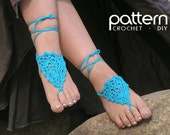 Crochet PATTERN, Barefoot Sandals Instructions, DIY, How to, Anklets, Beach Wedding - Instant Download