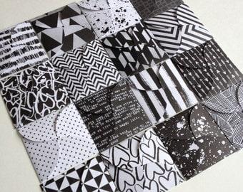 """Set of 16 // Mini Square Envelopes // 3.25"""" x 3.25"""" Envelopes // Petal Envelopes // Gift Envelopes // Square Petal Envelopes"""