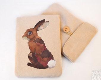 Bunny Rabbit Digital Media Case, ipad Case, Kindle Case, Tablet Case, Padded Sleeve, Protective Case