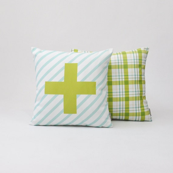 Decorative Pillows For Crib : Modern Decorative Pillow Set Geometric Nursery by LoveJoyCreate