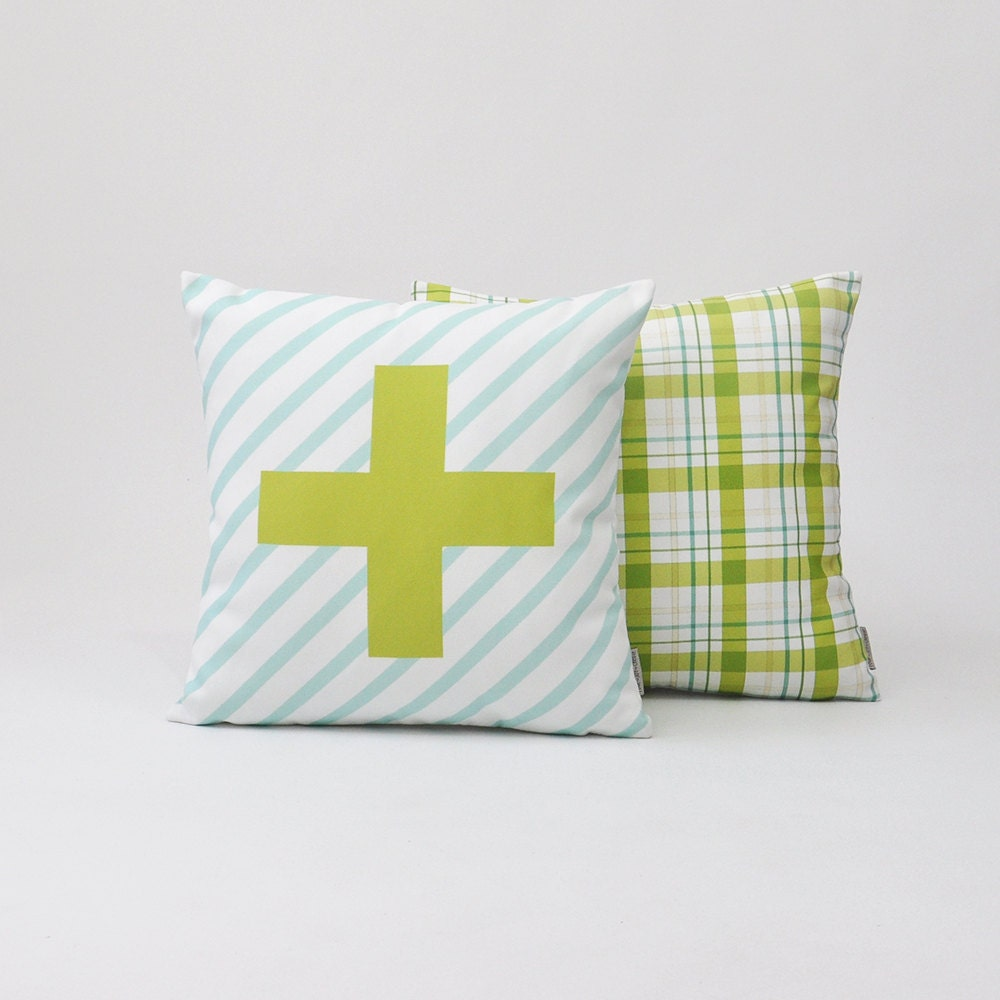 Modern Decorative Pillow Set Geometric Nursery by LoveJoyCreate