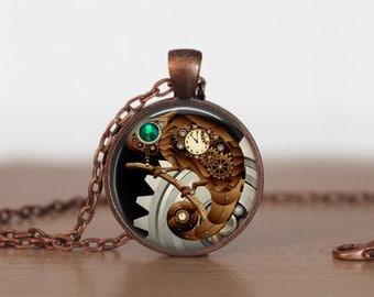 Steampunk Necklace, Steampunk Jewelry, Gear necklace
