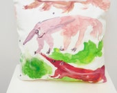Anteater Animal Cushion Pillow Bedroom Pillow Lounge Cushion Cover Home  Sofa Printed Handmade Anteater