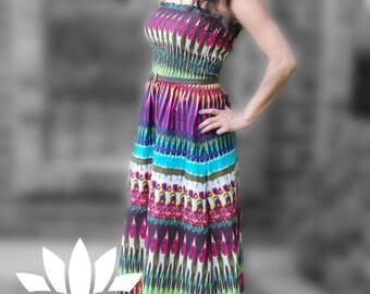 Tribal print Summer dress *price reduce / boho