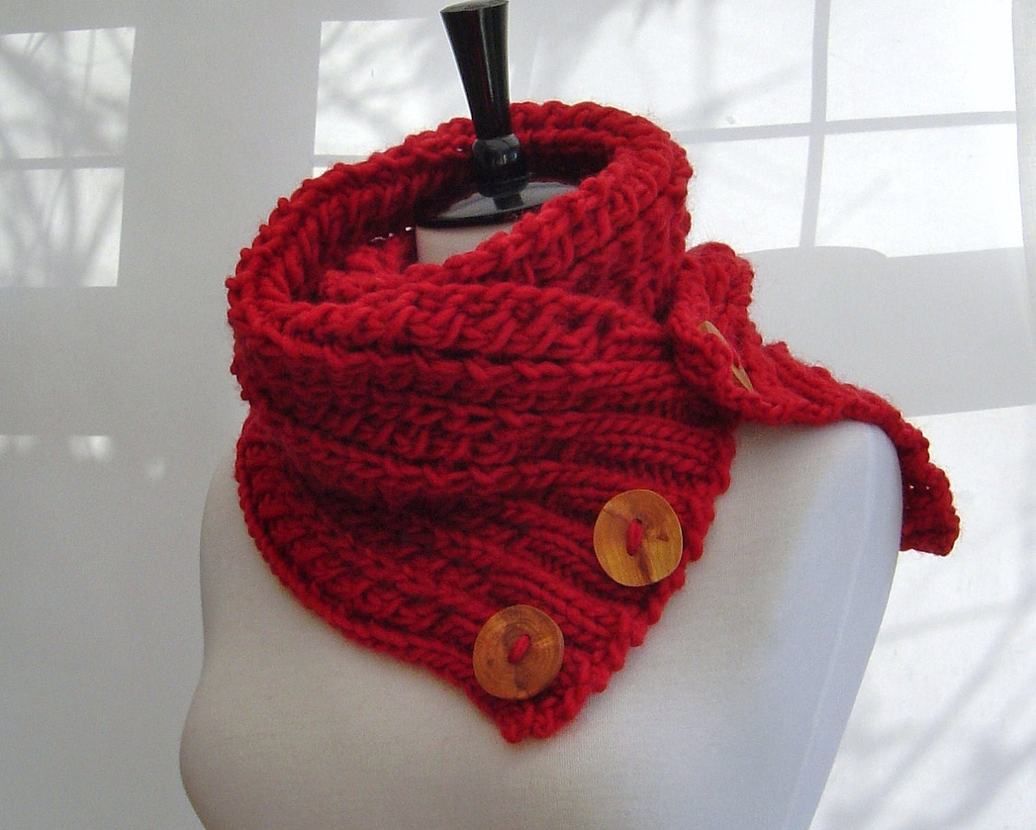 KNITTING PATTERN Infinity Scarf Cowl Chunky by Richmondhillknits