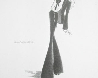 Original fashion illustration - Androgyny