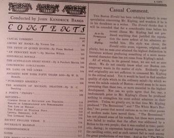 1890's Literature Magazine International Gazette of Criticism