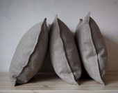 3 natural linen shams 20x28 inch size