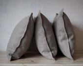 3 natural linen shams 20x28 inch size