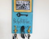Key Holder Photo Wall Rack for Scarves, Medals, Aprons, Sunglasses - Keys to My Heart Home Decor - READY TO SHIP