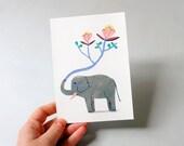 Postcard // Illustration // Elephant