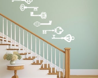 Vintage Keys - Kitchen Wall Decal Custom Vinyl Art Stickers for Homes, Kitchen, Remodelers, & Interior Designers
