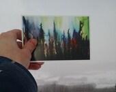 P83 - Aurora Borealis Painting Postcard Print