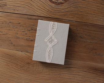 Beige Lace Coptic Journal