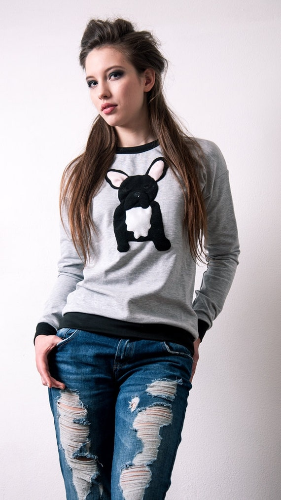frenchie pullover pullover franz sische bulldogge von ecattus. Black Bedroom Furniture Sets. Home Design Ideas