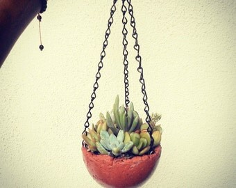 Small Hanging Concrete Planter