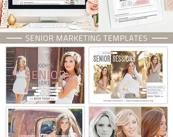 Senior Marketing Templates, Senior Marketing Board, Senior Photography Marketing Templates for Photoshop  | Covergirl Collection - AD6771
