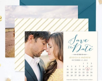 Save the Date Template for Photographers, Save the Date Card Announcement, Engagement Photography Templates, Photoshop Templates - SD140