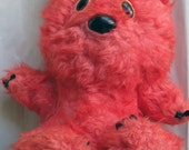 Big Soviet USSR Russian vintage teddy bear - Vinni Pukh - large pink stuffed bear toy - 1987
