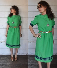 vintage green dress trends by jerrie lurie day dress