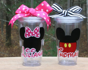 Personalized Tumbler - Minnie Mickey Mouse - 16oz