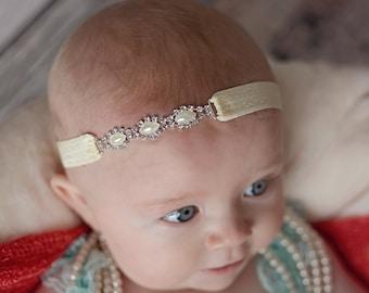 Ivory Pearl and Rhinestone Headband