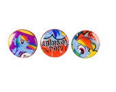 MLP Rainbow Dash magnet set- made from authentic comics!