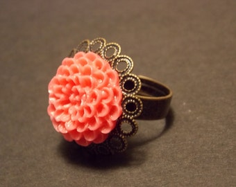 Bronze and Pink Adjustable Ring