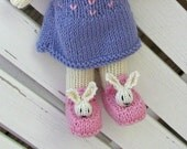 Easter Bunny Stuffed Toy - Plush Doll - Hand Knit Stuff Animal Rabbit - Kids Toy - Knitted Toy - Child Toy - Bunny Doll - Easter Gift Sierra
