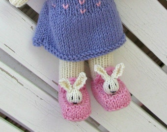 Stuffed Animal, Easter Gift, Easter Bunny, Bunny Doll, Knit Stuff Animal Rabbit, Kids Toy, Knit Toy, Child Toy, Bunny Kids, Easter Gift