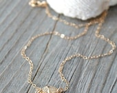 14k gold filled sand dollar Necklace, beach wedding, sea life, simple everyday jewelry, summer, shell, perfect layering necklace