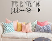 This your year wall decal | Motivational wall quote| Bespoke original hand drawn wall art |  58 x 35 cm //  23 x 13 inches