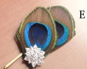 Peacock Feather pin