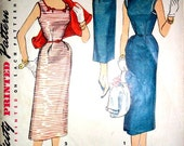 Mad Men Wiggle Dress and Bolero Jacket Vintage Sewing Pattern Simplicity 4598 Size 14 Bust 32