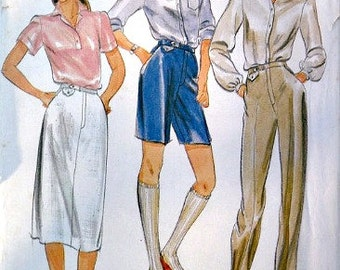 Misses Skirt Pants and Shorts Vintage 70's Sewing Pattern Butterick 3578 Size 8