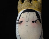 Max - Where the Wild Things Are - Tattoo Sleeve- Plush Doll- art doll- Wild Rumpus OOAK- made to order soft sculpture