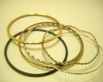 Six (6) Vintage Bangle Bracelets (745)