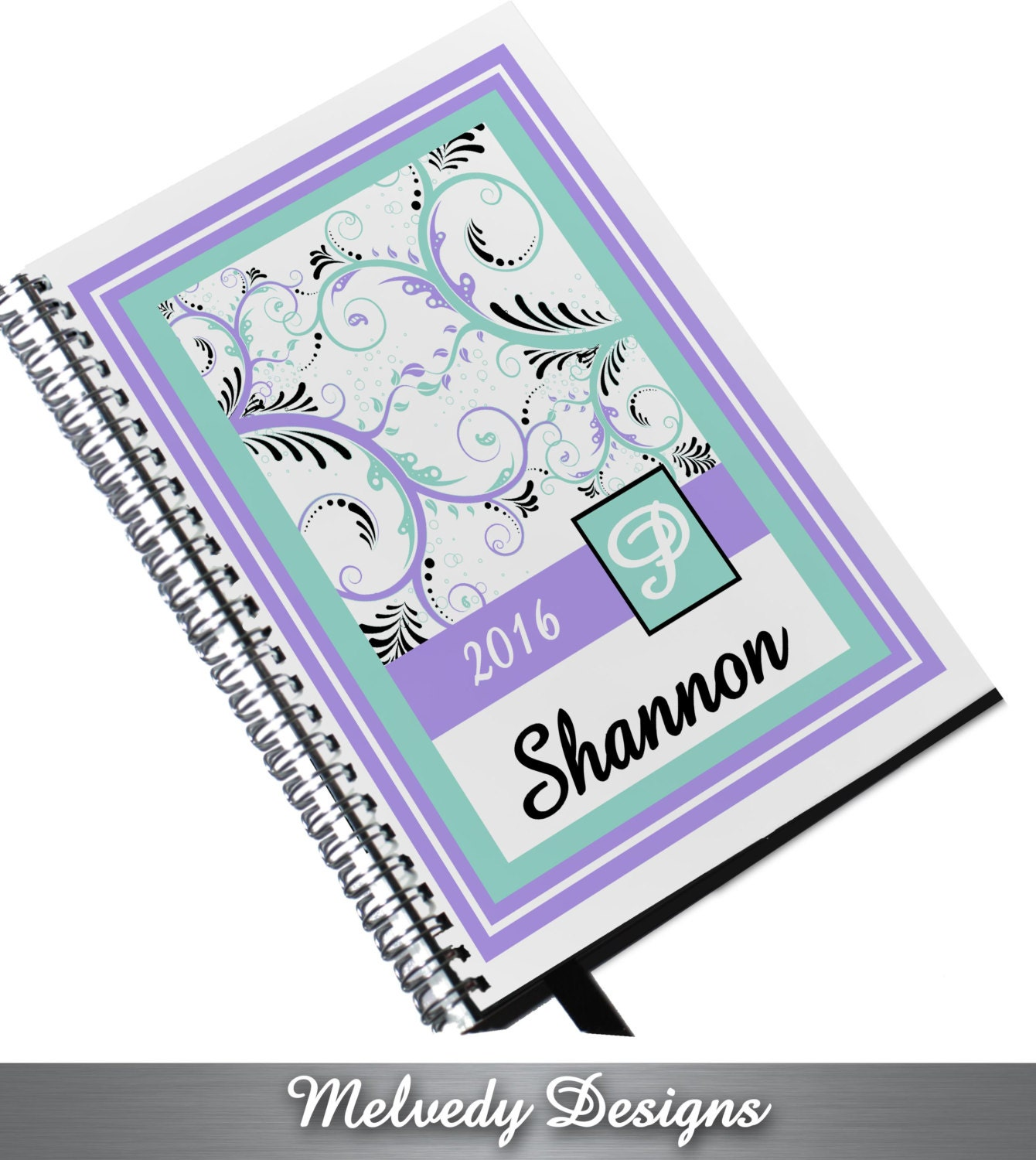 Large day planner with 2016 custom personalized by for Custom photo planner
