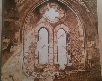 Celtic Cathedral pyrography on Paper, burned on paper