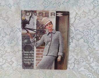 1960's Unger Casual Knit Patterns  Men's Women's Children's Sweaters Jackets William Unger & Co New York Exclusive New Designs Collection
