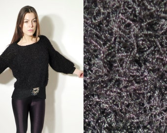 Vintage Black Fuzzy Sweater