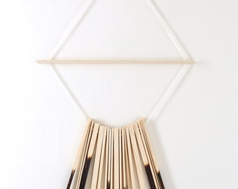 Wall Hanging Wood Art Shou Sugi  Ban