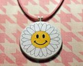 Happy Daisy White & Pink Handmade Choker