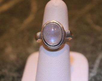 Blue Moonstone Sterling ring