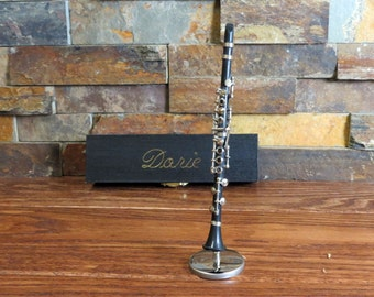 Miniature Clarinet - Personalized - Concert - Band - Gift for Musician- Gifts for Men or Women (CBCL)