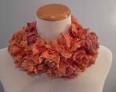 Coral Ruffle Fashion Scarf