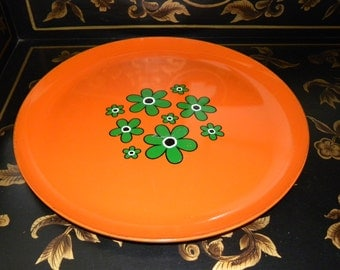 Groovy Floral Lacquer Serving Tray