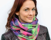 Tartan cowl scarf, girlfriend, gift for her, infinity scarf, gift for women, winter accessories, plaid scarf, pink tartan