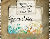 Etsy Shop Banner - Beautiful Splatter set - banners, profile picture, avatar, reserved, custom & special order