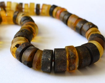 Natural Amber Necklace, Huge Statement Necklace, Genuine Amber, Earthy Colors
